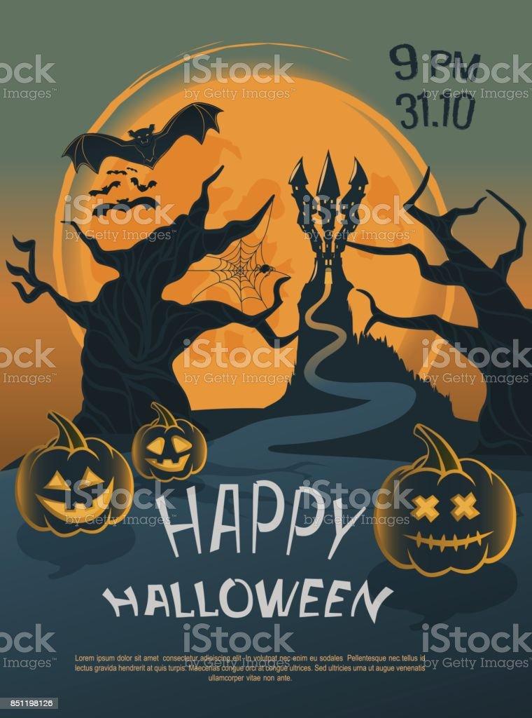 Halloween11 vector art illustration