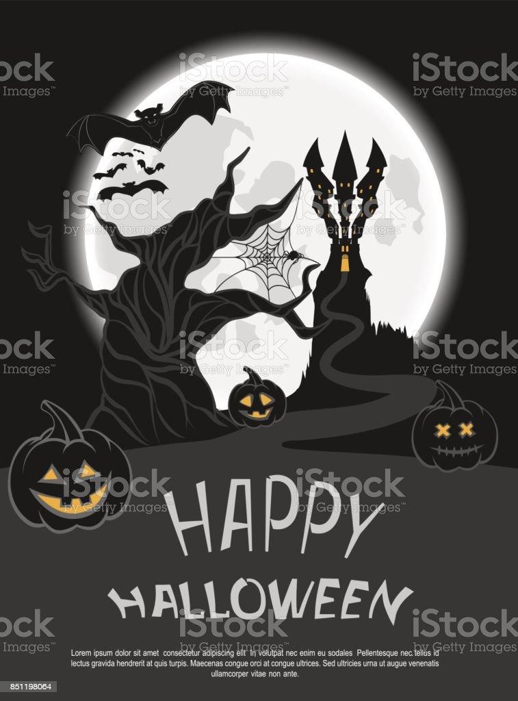 Halloween6 vector art illustration