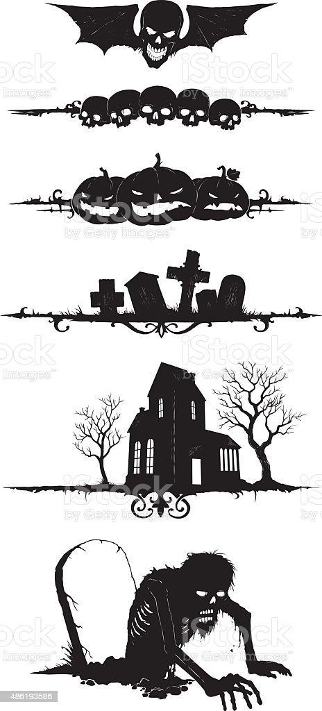 Halloween_shapes vector art illustration