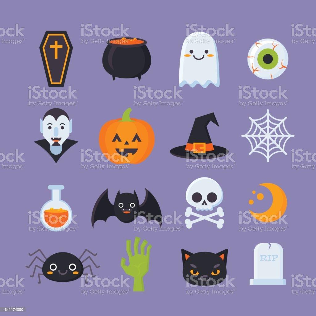 Halloween-icons vector art illustration