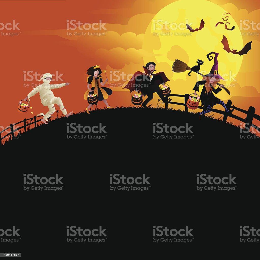 Halloween's Eve vector art illustration