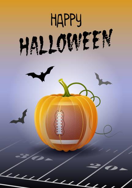 illustrations, cliparts, dessins animés et icônes de halloween-sport-football - cage animal nuit