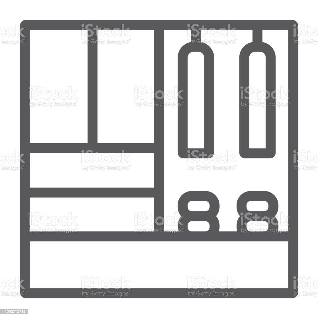 Icône De Ligne Couloir Meubles Meubles Et La Maison Signe De