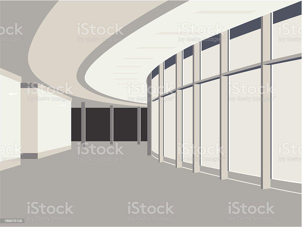 Hallway vector art illustration