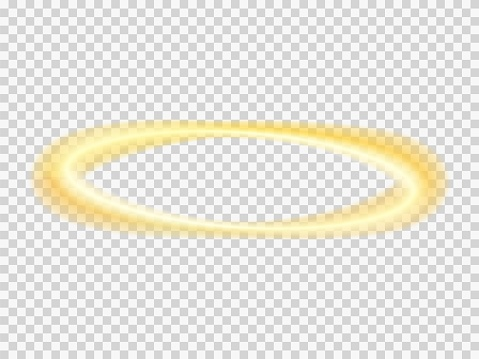Halo angel vector transparent nimbus . Saint ring .