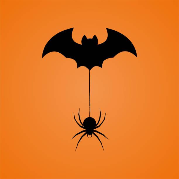 haloween desing - tarantula stock illustrations
