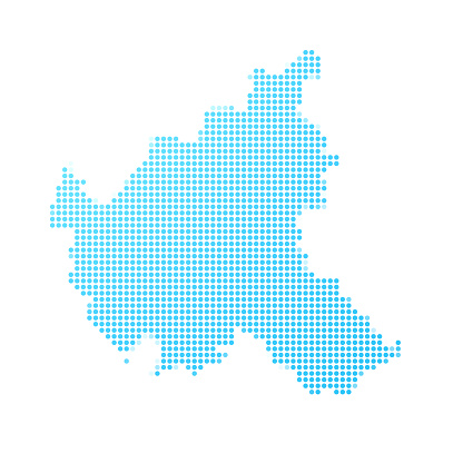 Hamburg map in blue dots on white background
