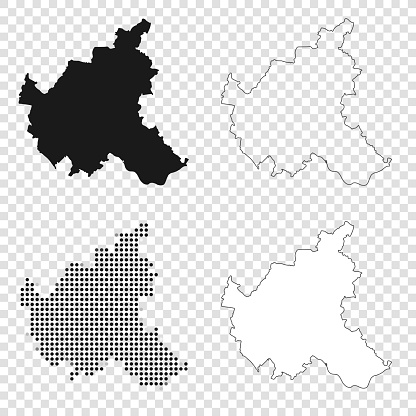 Hamburg maps for design - Black, outline, mosaic and white