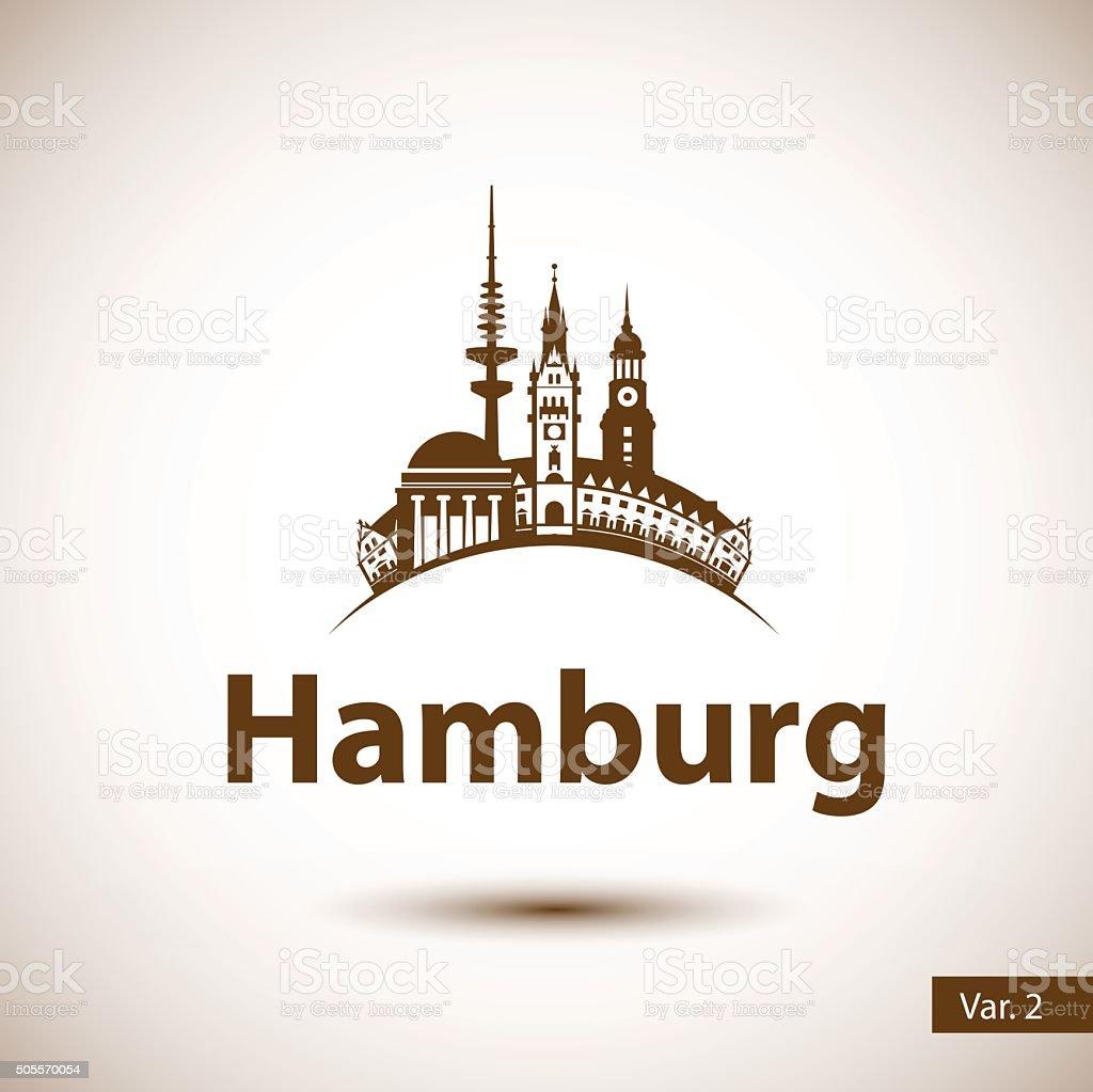 Abstrakte Skyline von Hamburg – Vektorgrafik