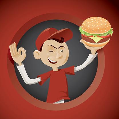 Hamburger boy