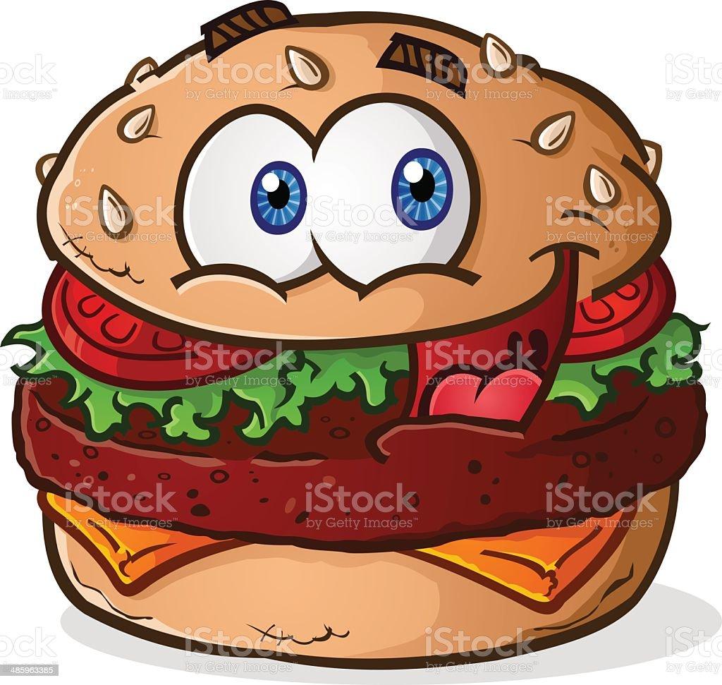 Hamburger Cheeseburger Cartoon vector art illustration