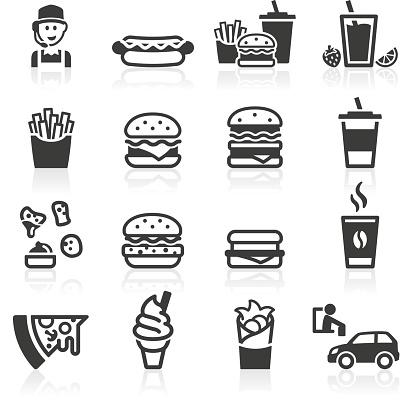 Hamburger Fast Food Icons