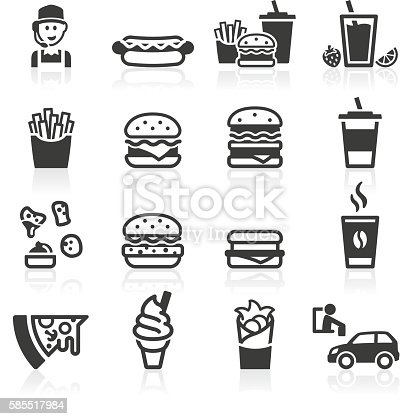 Fast food and drink icons. Layered and grouped for ease of use.