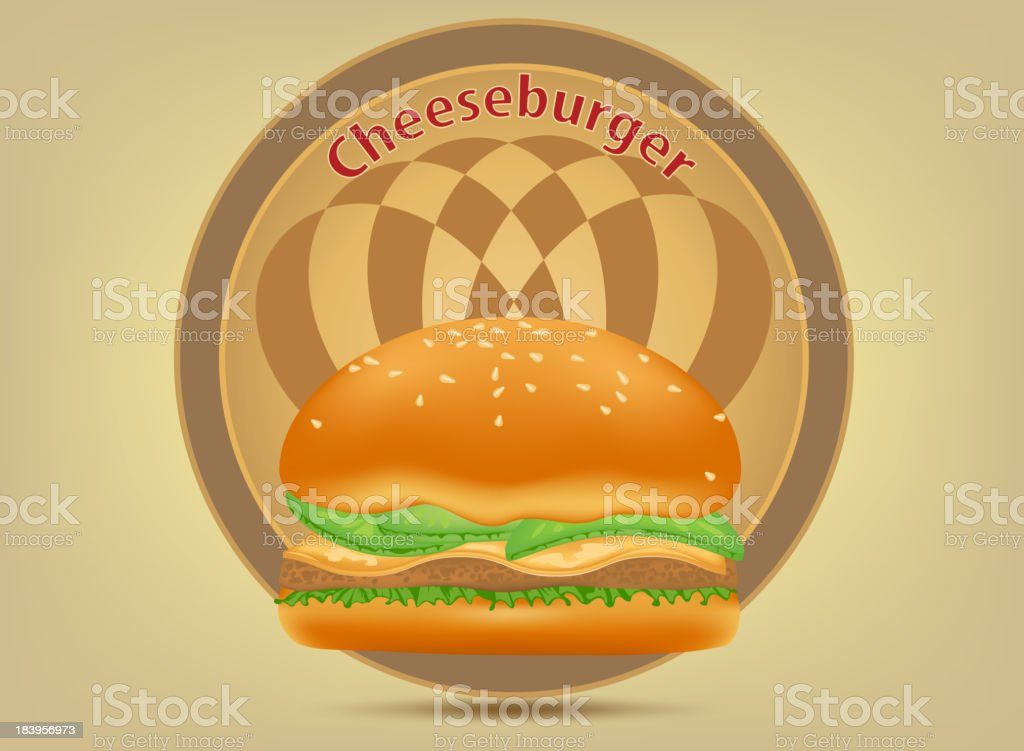 Hamburger fast food label royalty-free hamburger fast food label stock vector art & more images of bread