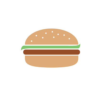 Hamburger - Flat Design BBQ - Barbecue Icon