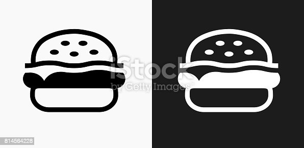 Hamburger Icon on Black and White Vector Backgrounds. This vector illustration includes two variations of the icon one in black on a light background on the left and another version in white on a dark background positioned on the right. The vector icon is simple yet elegant and can be used in a variety of ways including website or mobile application icon. This royalty free image is 100% vector based and all design elements can be scaled to any size.