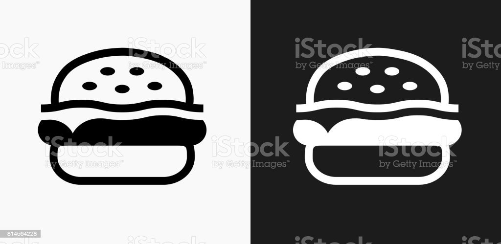 Hamburger Icon on Black and White Vector Backgrounds vector art illustration