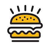 Hamburger line icon. Files included: Vector EPS 10, HD JPEG 4000 x 4000 px