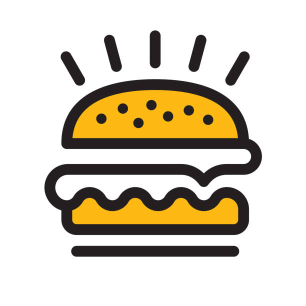 stockillustraties, clipart, cartoons en iconen met hamburger-icon - hamburgers