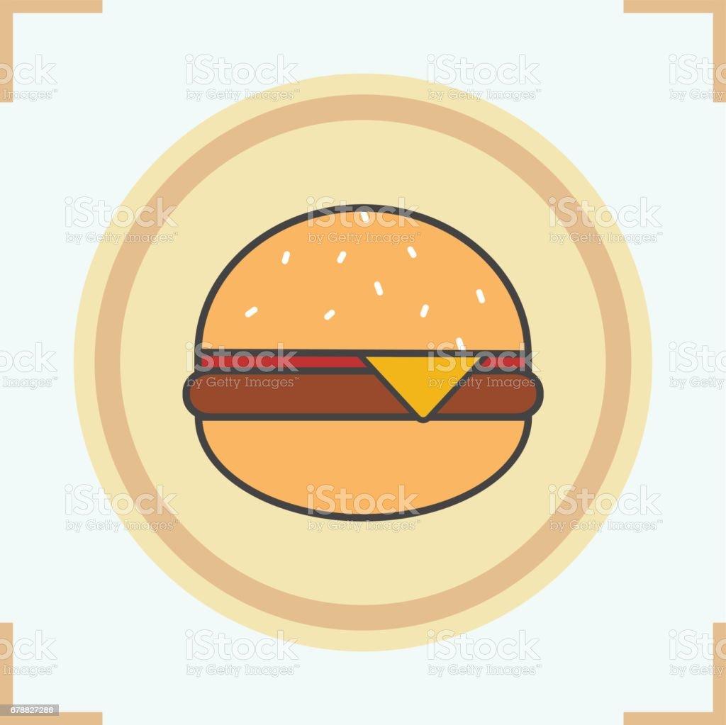 Hamburger simgesi royalty-free hamburger simgesi stok vektör sanatı & burger'nin daha fazla görseli