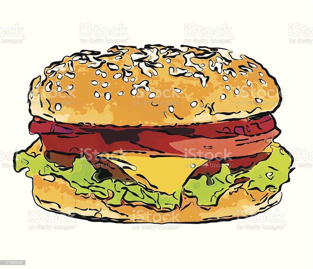 Hamburger isolated. royalty-free stock vector art