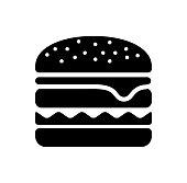 istock hamburger / junk food icon 928415518