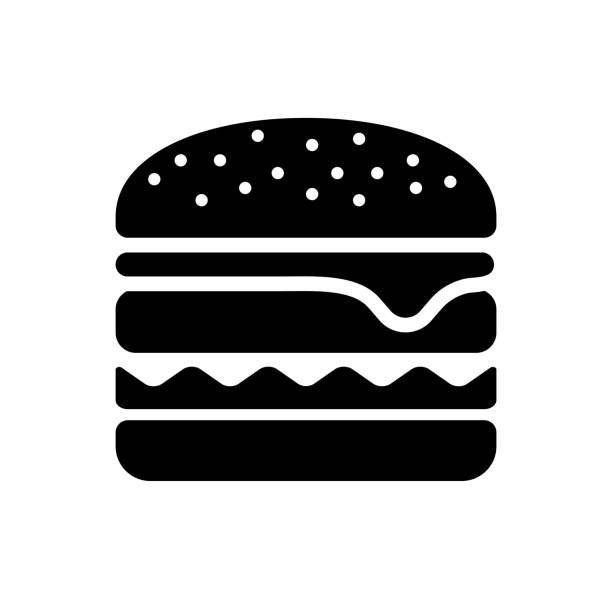 hamburger / junk food icon - cheeseburger stock illustrations