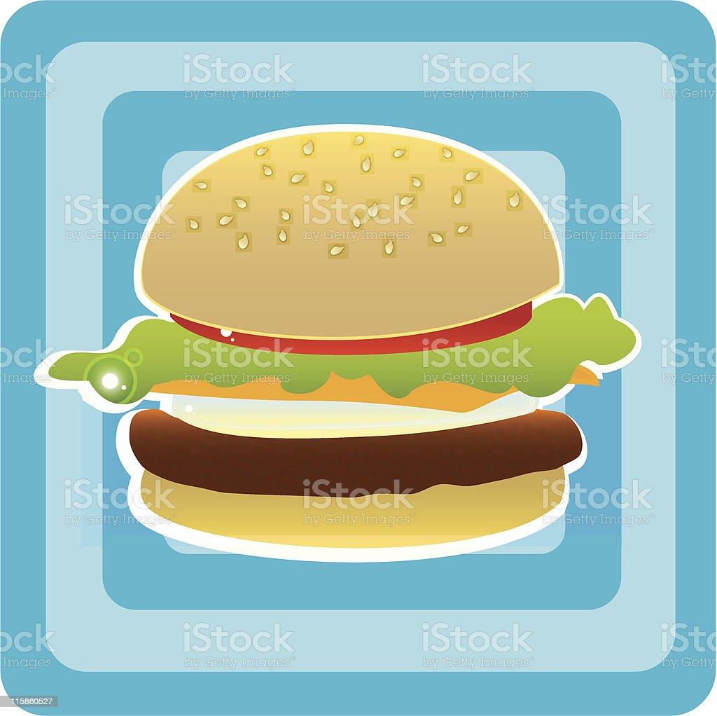 Hamburger - Kitsch Food royalty-free stock vector art