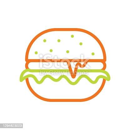 Hamburger Line Icon. Editable Stroke