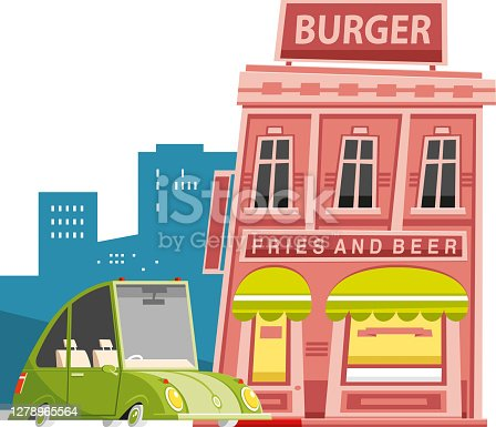 Easy editable  burger restaurant vector...