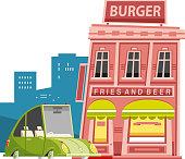 istock Hamburger restaurant 1278965564