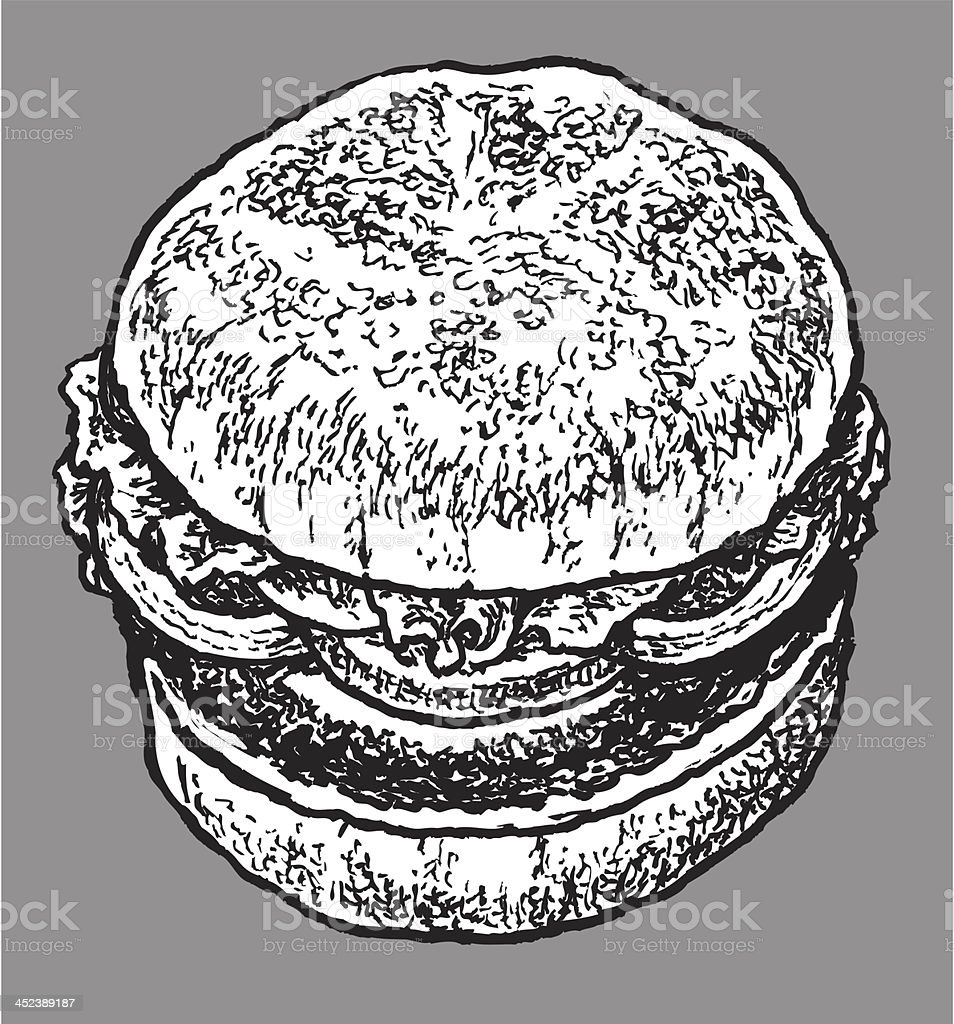 Hamburger - Fast Food royalty-free stock vector art
