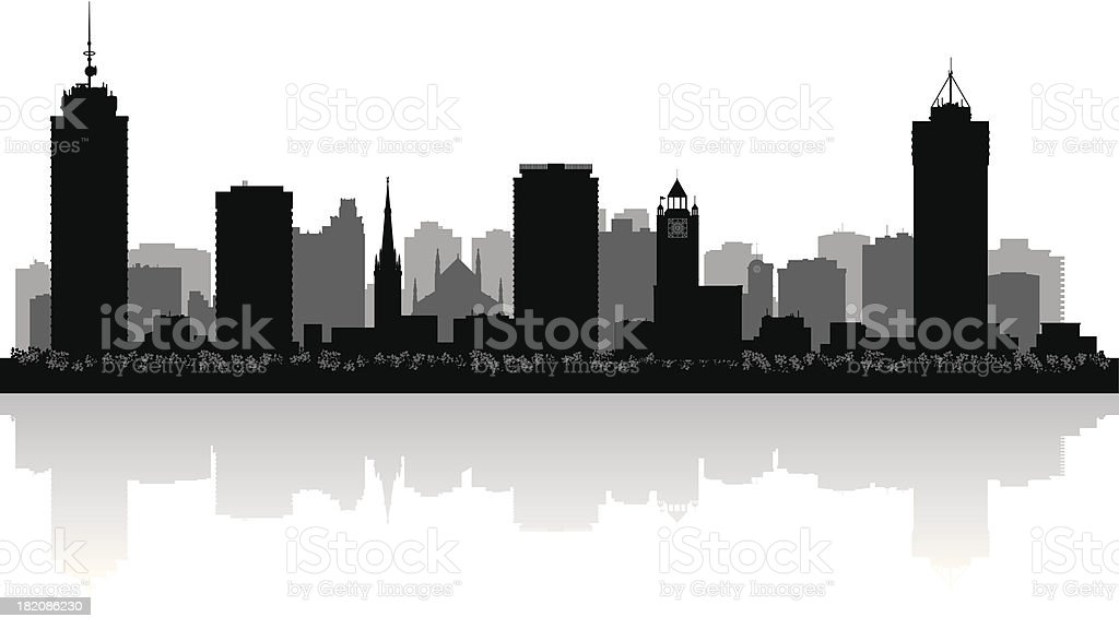 Hamilton Ontario city skyline vector silhouette royalty-free hamilton ontario city skyline vector silhouette stock vector art & more images of architecture