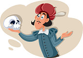 istock Hamlet Holding Skull Asking Existential Question 1202420722