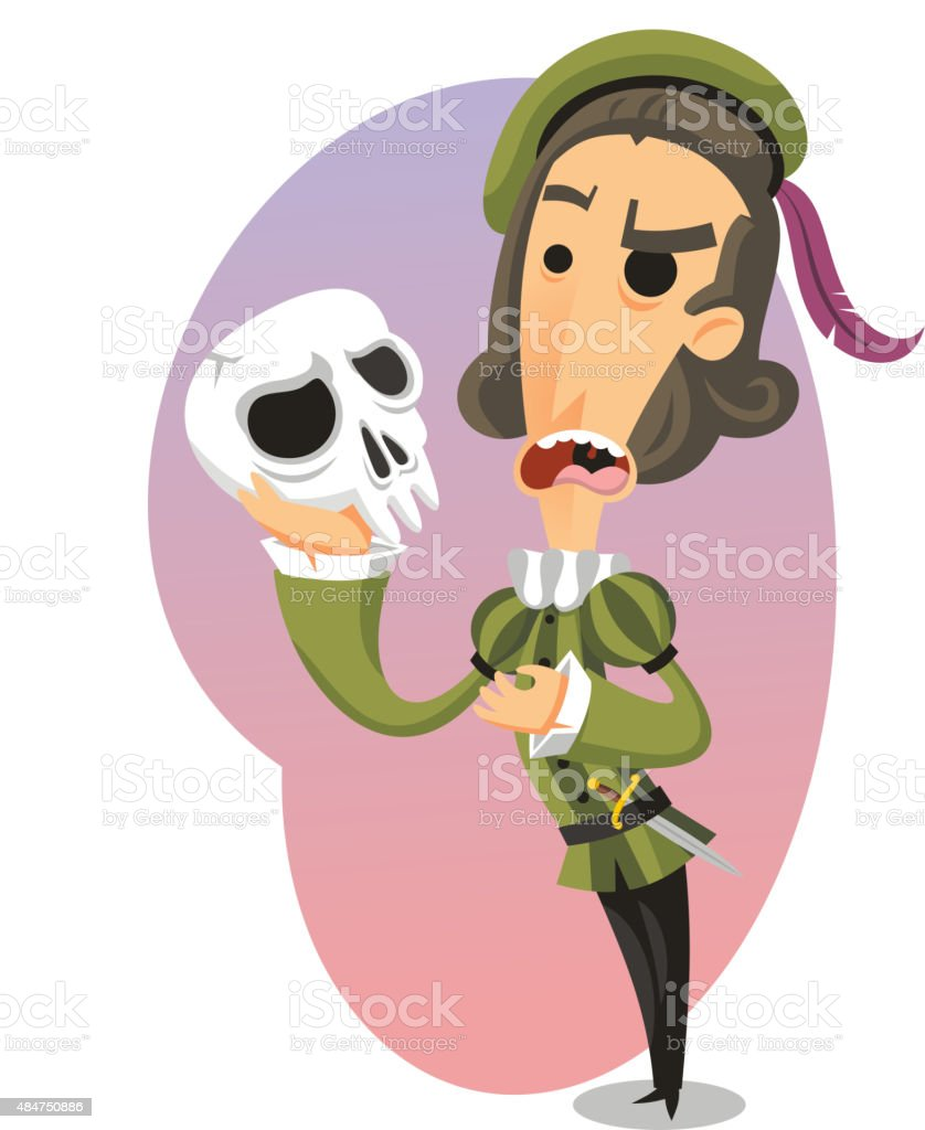 Hamlet Play William Shakespeare vector art illustration