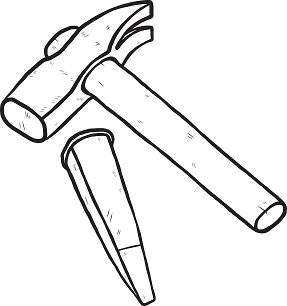 Royalty Free Hammer And Chisel Clip Art, Vector Images ...