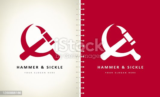 hammer and sickle vector design