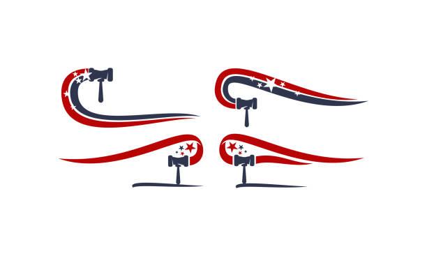 hammer-kanzler-auktion vorlage festgelegt - kanzlerin stock-grafiken, -clipart, -cartoons und -symbole