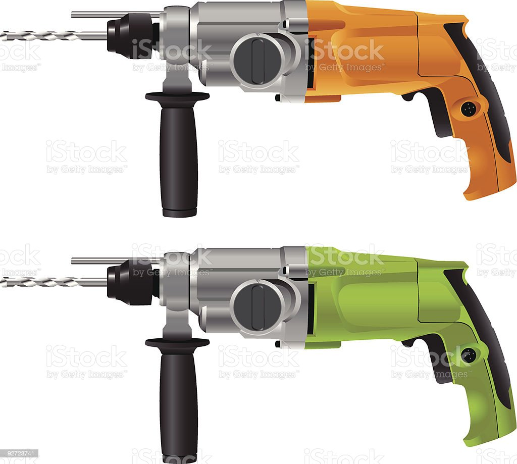 Hammer drills royalty-free stock vector art