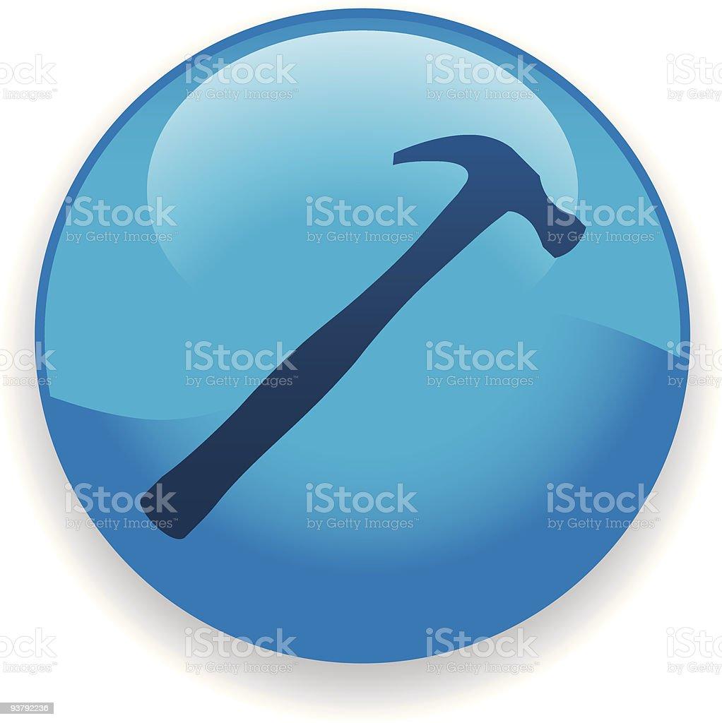 Hammer Icon royalty-free stock vector art