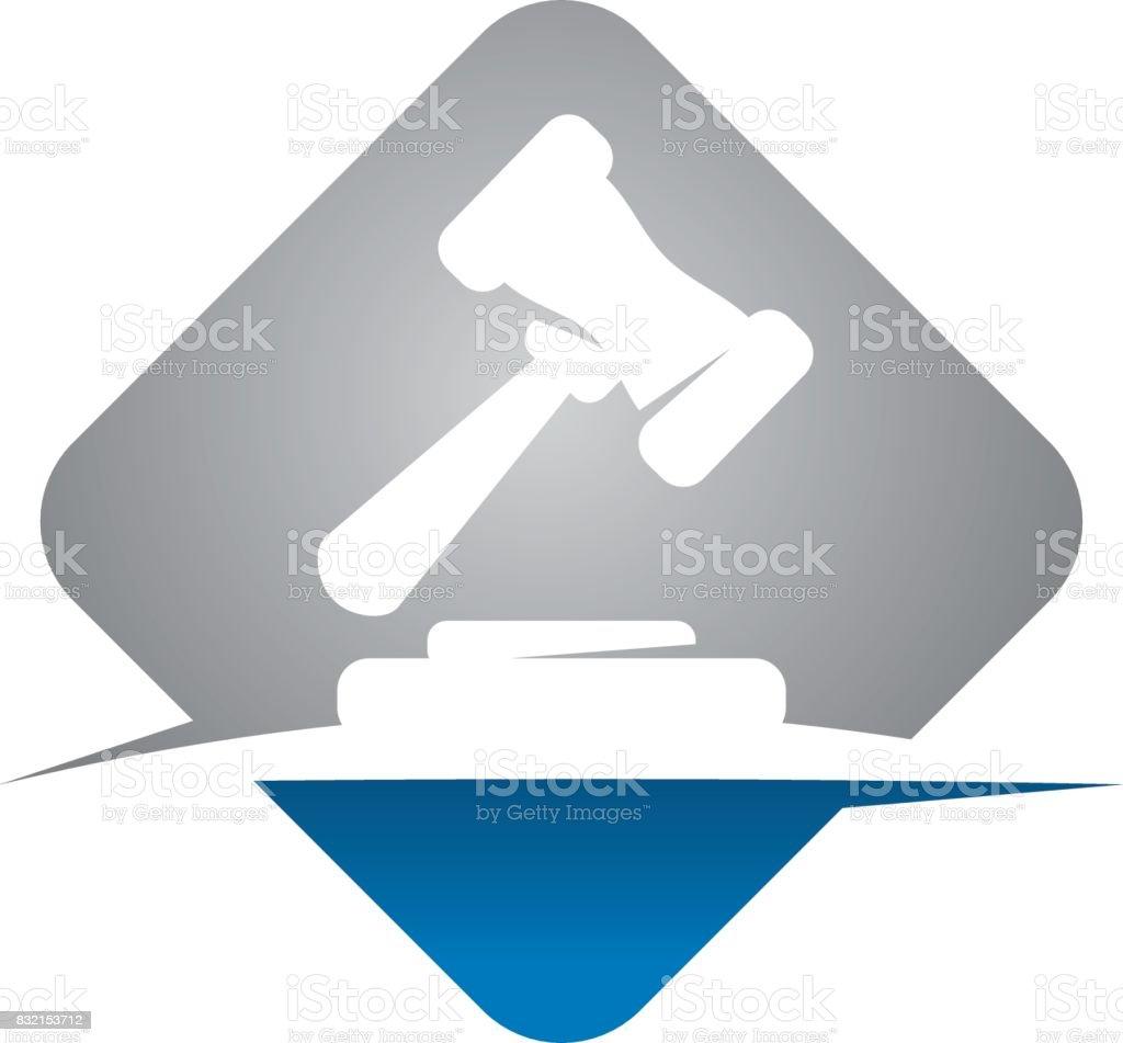 Hammer Legal Auction vector art illustration