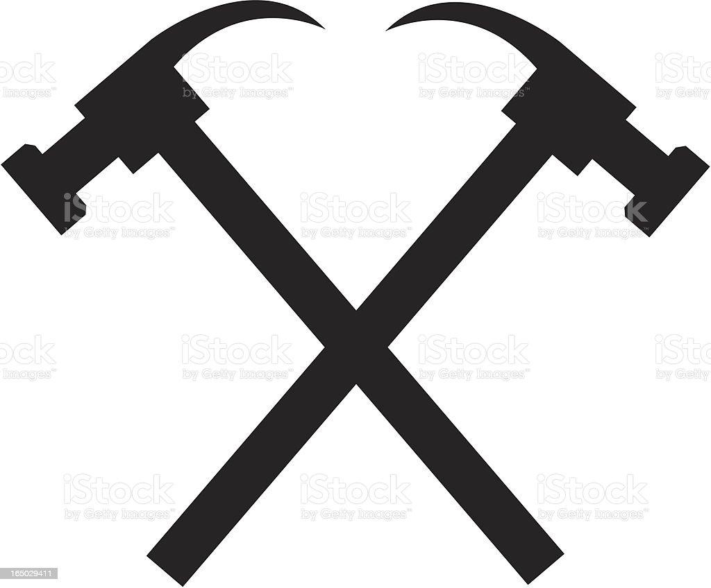 Hammer Logo royalty-free stock vector art