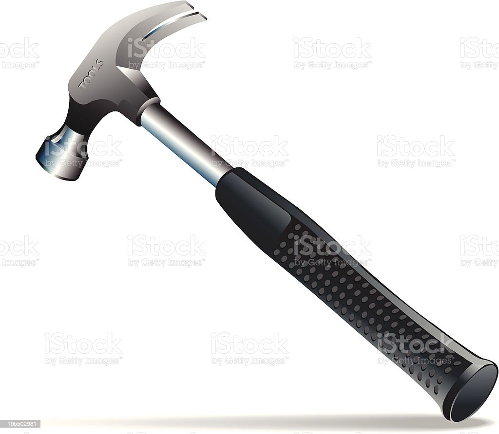 A hammer poised on a white background royalty-free a hammer poised on a white background stock vector art & more images of claw hammer
