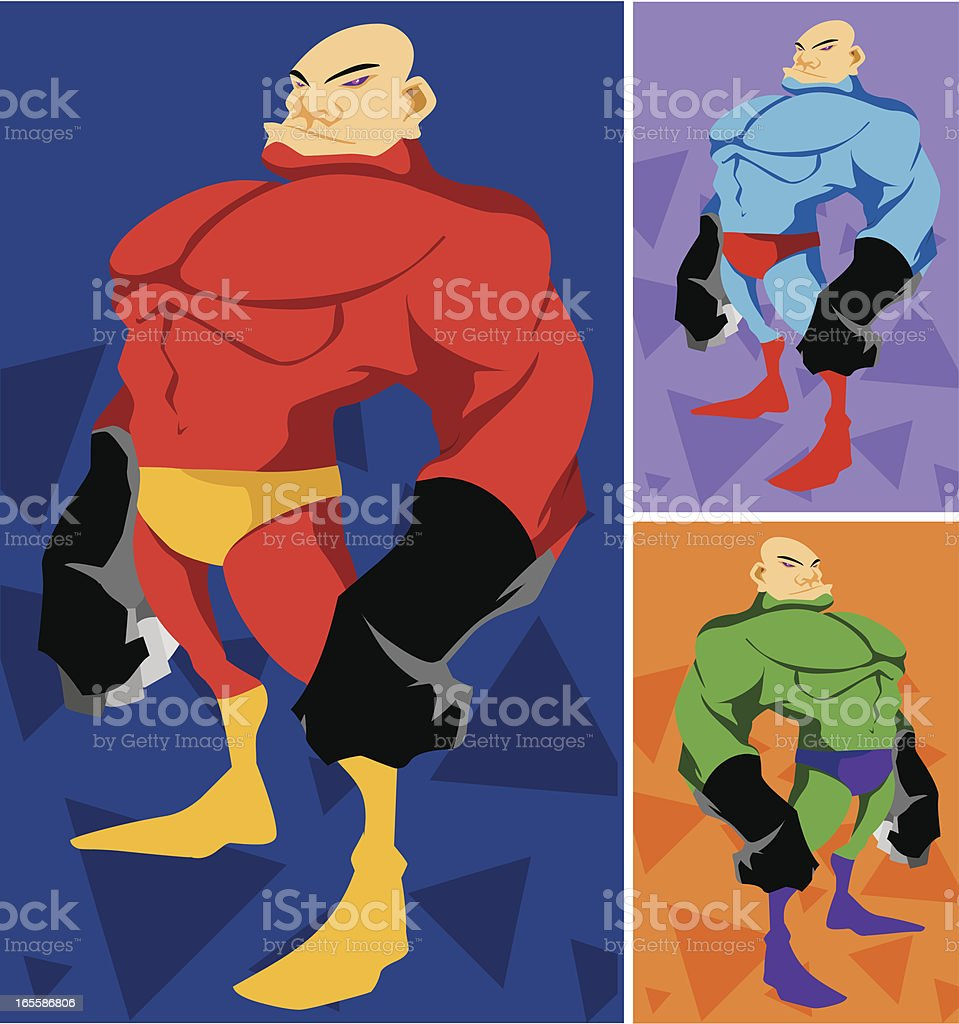 Hammerhand Superhero Illustration vector art illustration