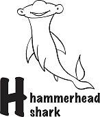 Hammerhead shark icon