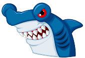 Hammerhead shark mascot cartoon character