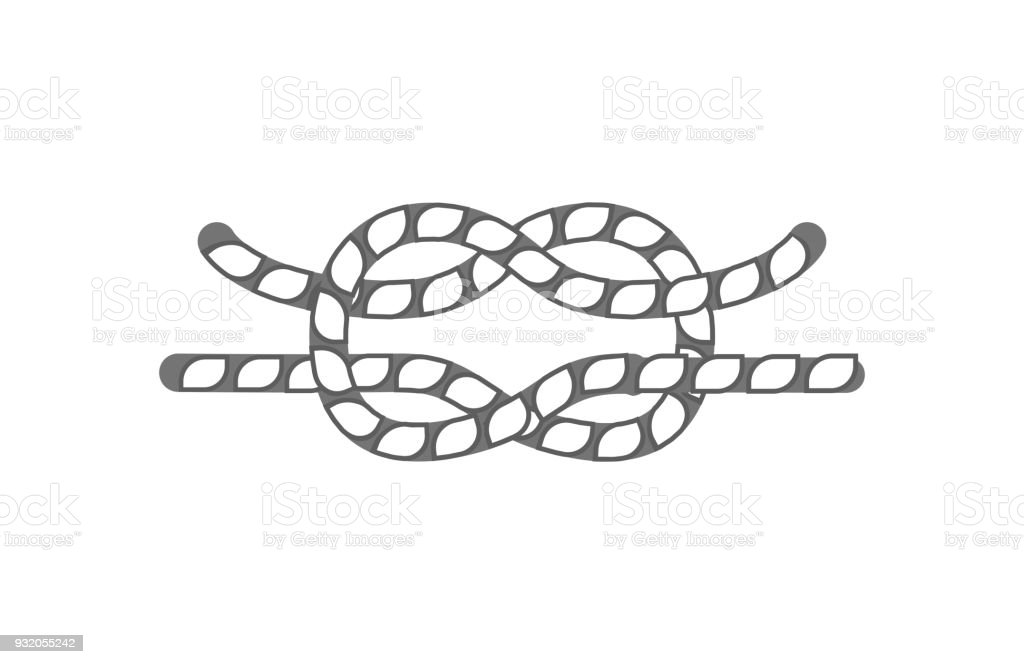 Hammock rope knot isolated vector icon