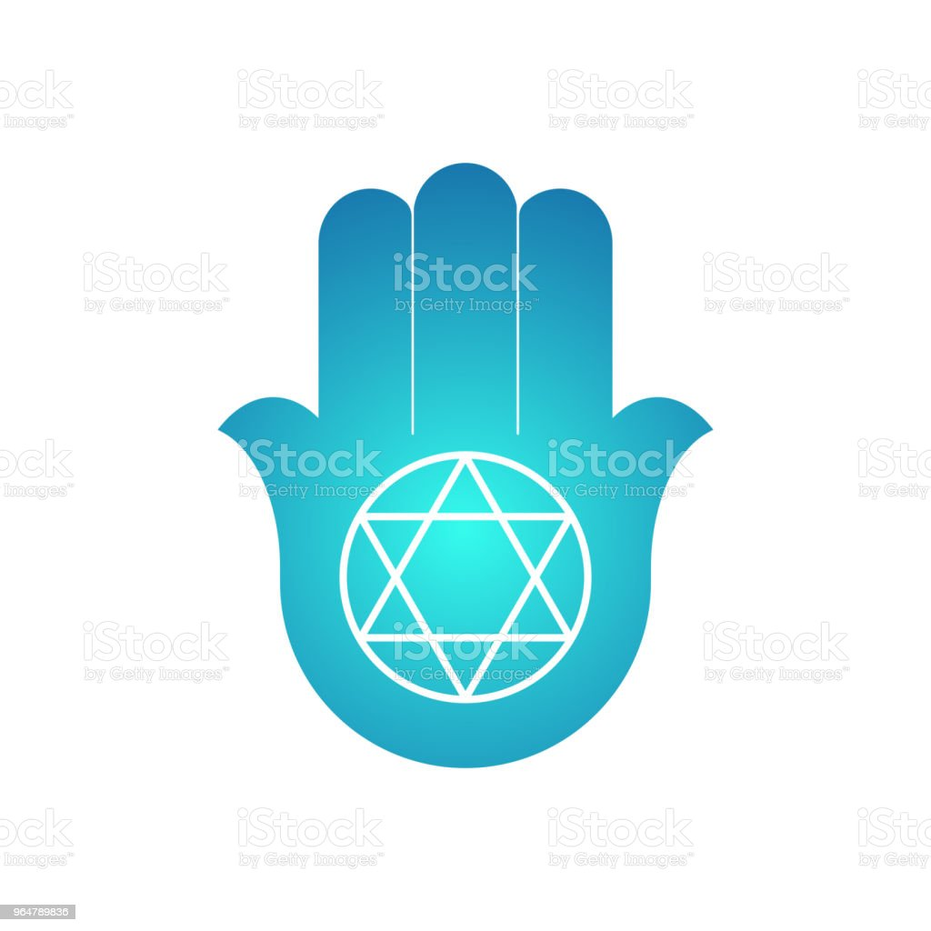 Hamsa. amulet. open hand with a six-pointed star. royalty-free hamsa amulet open hand with a sixpointed star stock vector art & more images of art