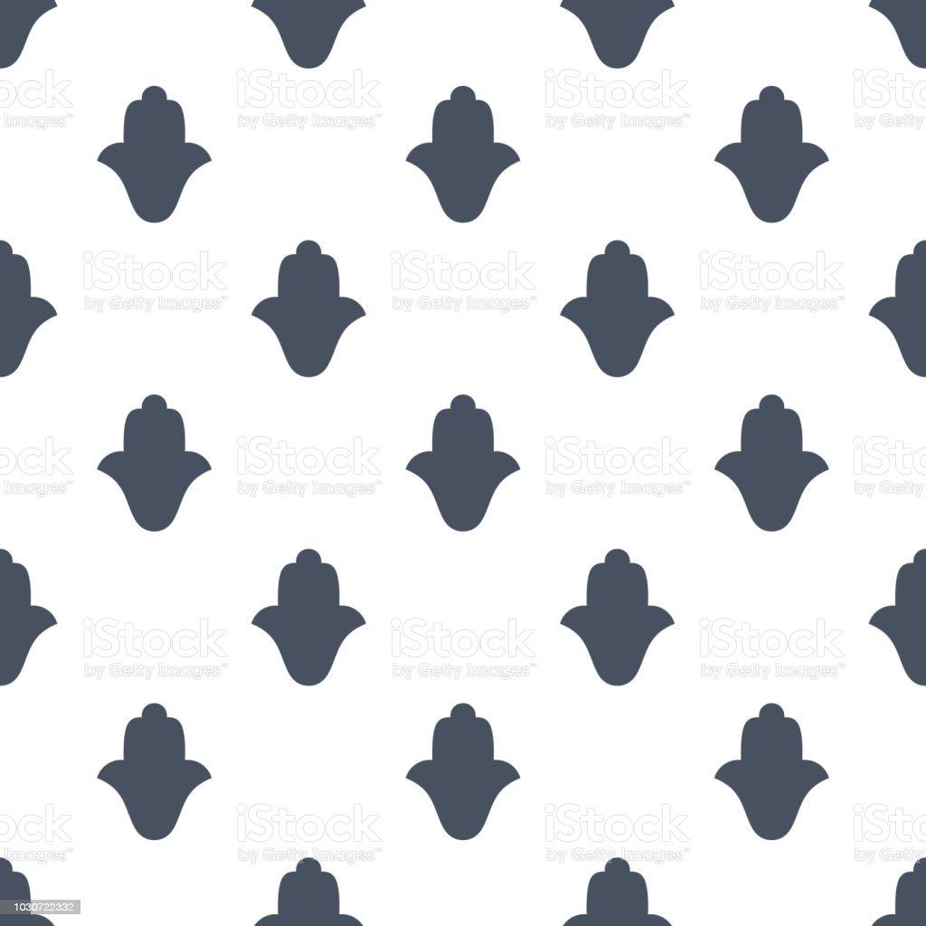 Hamsa Hand Fatima Pattern vector art illustration