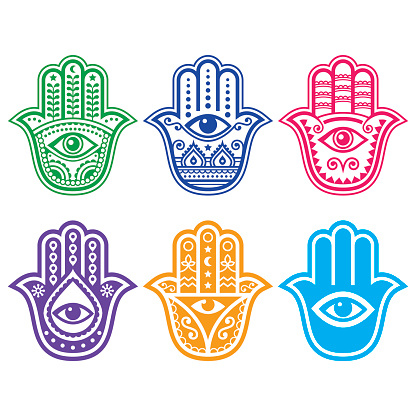 Hamsa hand, Hand of Fatima - amulet, symbol of protection